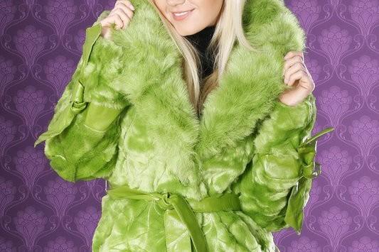 zielone futro