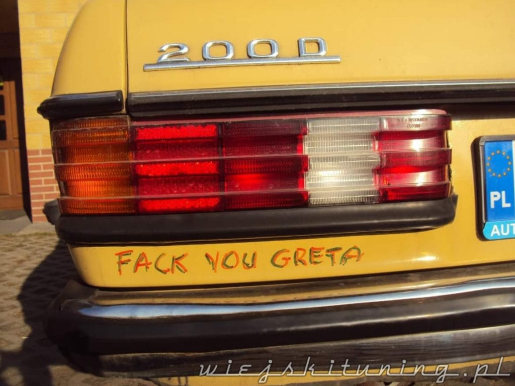 2 how dare you greta mercedes w123