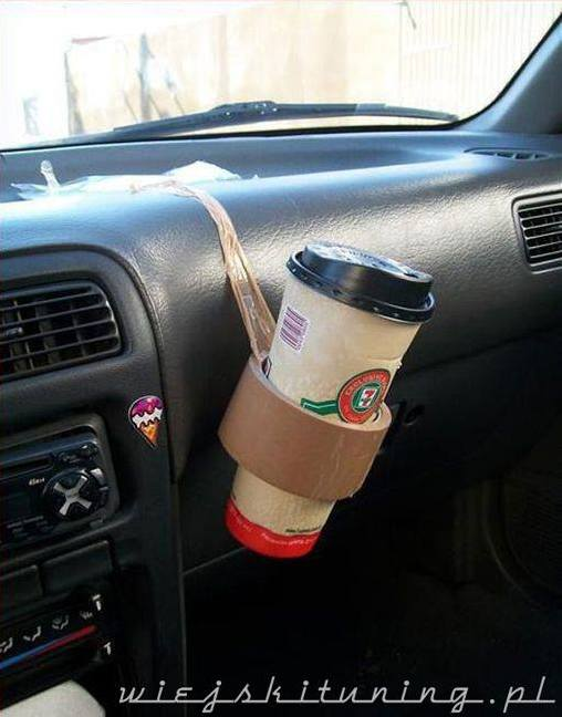 6 uchwyt na kawe do samochodu diy rozwiazanie zrob to sam kawa starbucks tasma