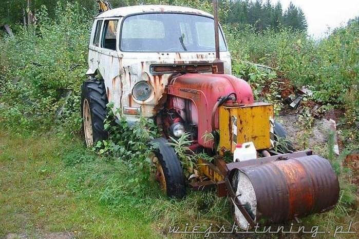 agroturystyka wiejskie życie traktor volkswagen vw transporter
